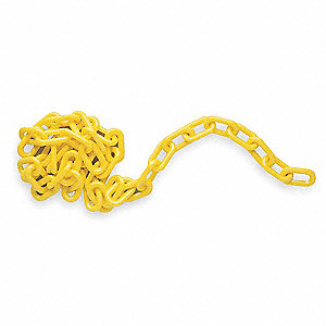 Plastic Chain,2 In x 100 ft,Yellow