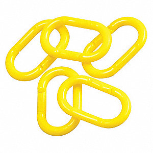 Chain Link,2 In.,Yellow,Plythylene,PK36