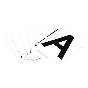 Adhesive Numbers And Letters Identification Products Grainger