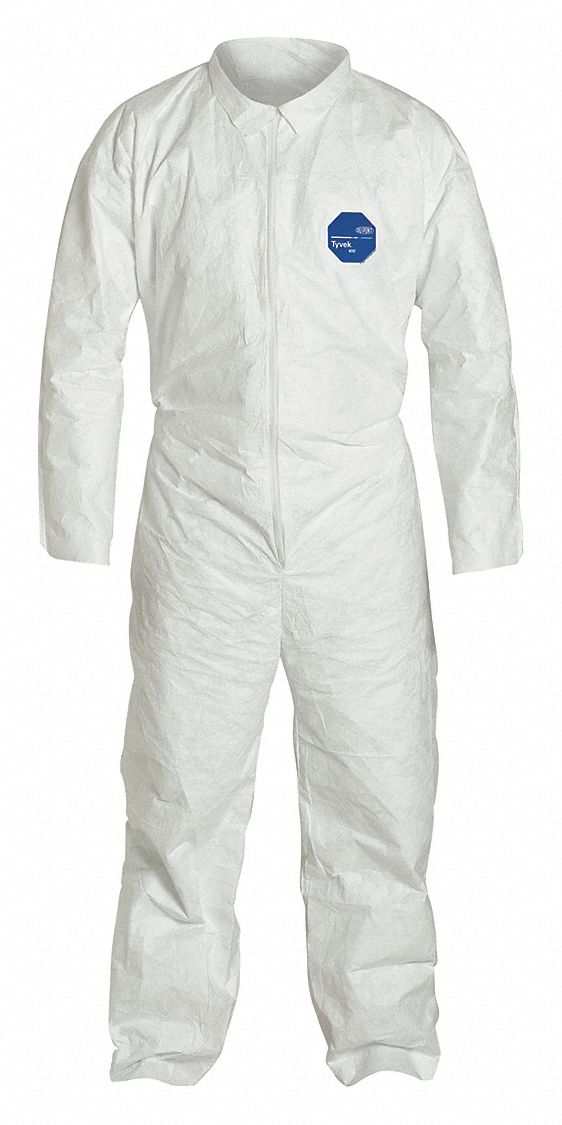 Collared Disposable Coveralls,  Collared,  Size XL,  PK 25