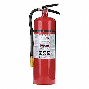 Dry Chemical Fire Extinguisher with 10 lb. Capacity and 19 to 21 sec. Discharge Time