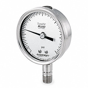 Pressure Gauge,0 to 600 psi,2-1/2In