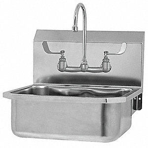"Wall Hand Sink, 17"" x 14"" x 7"" Bowl Size"