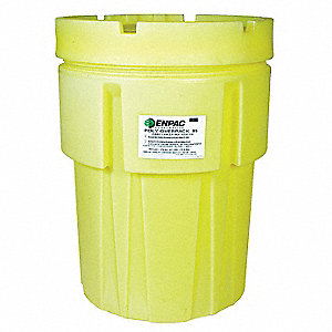 95 gal. Yellow Polyethylene Open Head Salvage Drum