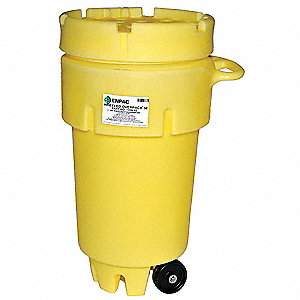Salvage Drum,Screw Lid,50 gal.,Yellow