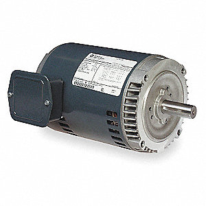 1 HP General Purpose Motor,3-Phase,1140 Nameplate RPM,Voltage 208-230/460,Frame 145TC