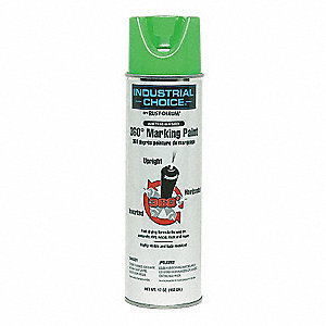 Fluorescent Green Inverted Marking Paint, Water Base Type, 17 oz.