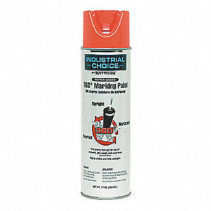 Fluorescent Red Inverted Marking Paint, Water Base Type, 17 oz.