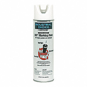 White Inverted Marking Paint, Water Base Type, 17 oz.