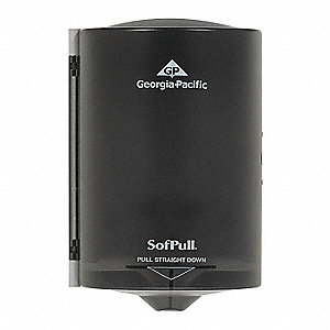 SofPull® Proprietary Centerpull Manual Paper Towel Dispenser, Translucent Smoke