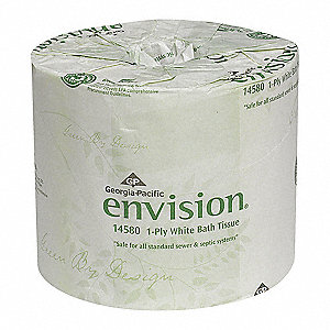 Envision® 1-Ply Standard Toilet Paper, 403 ft., 80 PK