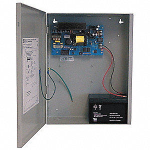 Steel Power Supply 12VDC @ 10A with Gray Finish