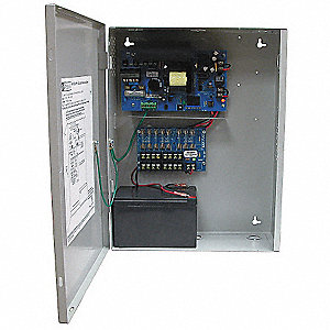 Steel Power Supply 8 Fuse 12VDC @ 10A with Gray Finish