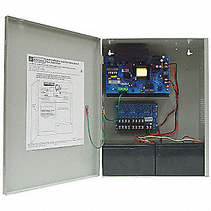 Steel Power Supply 8 PTC 12VDC @ 10A with Gray Finish