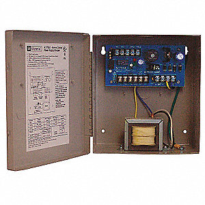 Steel Power Supply 2Out 12Dc Or 24Dc @ 1.75A with Gray Finish
