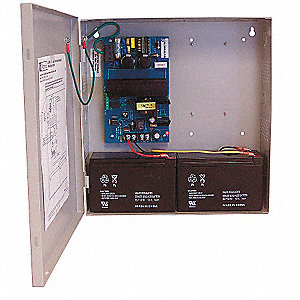 Steel Power Supply 12VDC Or 24VDC @ 2.5A with Grey Finish