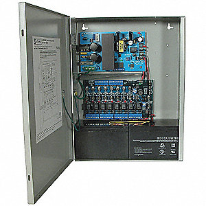 Steel Power Supply 8Fuse 12Dc/3.5A Or 24Dc/3A with Gray Finish