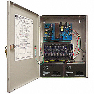 Steel Power Supply 8PTC 12Dc/3.5A Or 24Dc/3A with Gray Finish