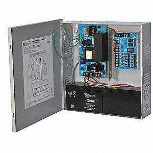 Steel Power Supply 5PTC 12VDC Or 24VDC @ 6A with Gray Finish