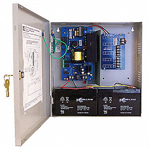 Steel Power Supply 4PTC 12VDC Or 24VDC @ 6A with Gray Finish