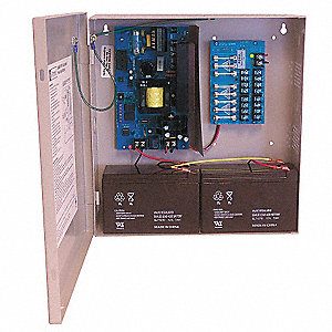 Steel Power Supply 8Fuse 12VDC Or 24VDC @ 6A with Gray Finish