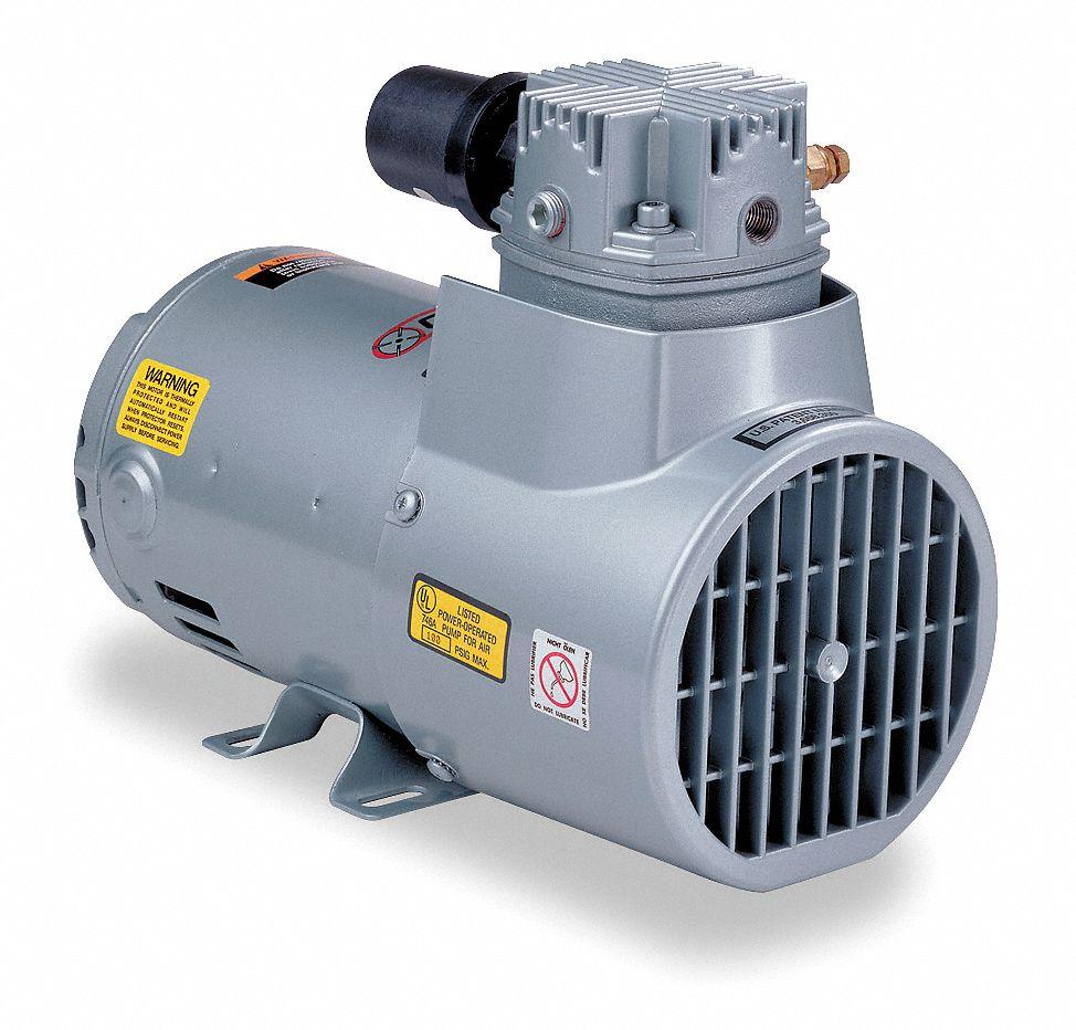 Gast Piston Air Compressor 1 3hp 115v 1ph 4tf24 3heb 70 M345x Grainger