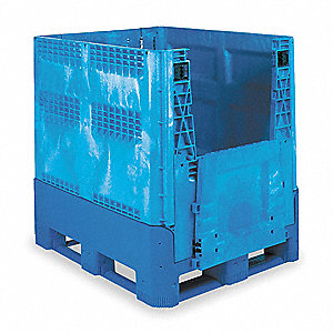 Collapsible Container,48x40 In,Blue