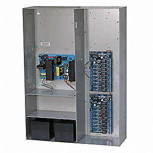 Steel Power Supply 16PTC 24VDC @9.4 A with Gray Finish