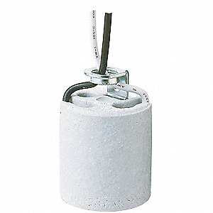 Socket W/10 In Leads,Porcelain