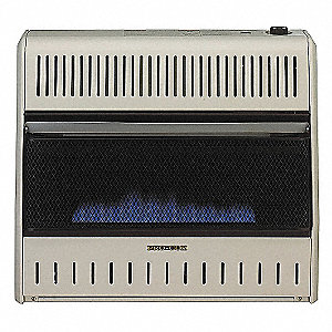 "8"" x 26-5/8"" x 23-1/2"" Convection Vent Free Gas Heater with 1000 sq. ft. Heating Area"