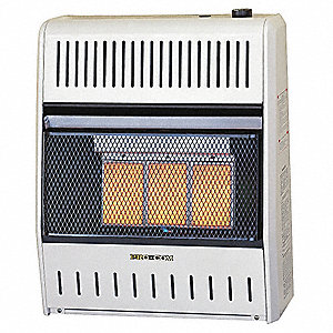 "8"" x 19-1/4"" x 23-1/2"" Infrared Vent Free Portable Gas Heater with 600 sq. ft. Heating Area"