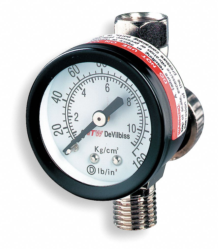 Air Regulator with Gauge, 100 psi, 180F