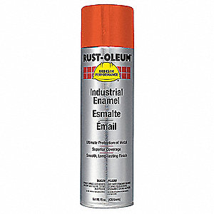 High Performance Rust Preventative Spray Paint in Gloss Equipment Orange for Metal, Steel, 15 oz.