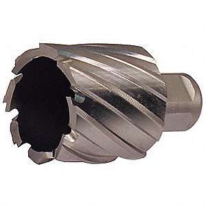"1/2"" Dia. M2 HSS Annular Cutter, 2"" Cutting Depth"