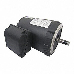 1/3 HP General Purpose Motor,3-Phase,1140 Nameplate RPM,Voltage 208-230/460,Frame 56C
