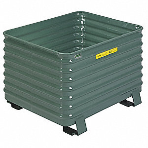 Bulk Container,49-1/2 In L,Vista Green