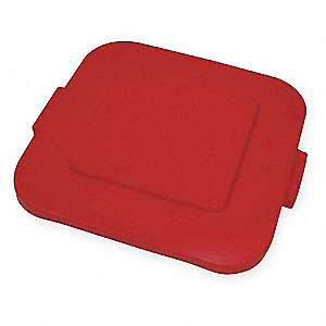 BRUTE® Square Flat Top Trash Can Top for 28 gal., Red