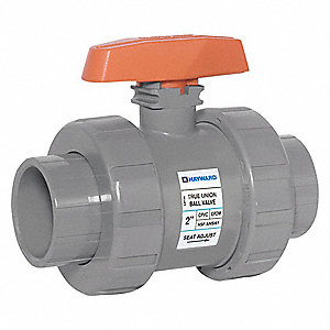 CPVC Ball Valve,Union,Socket/FNPT,1/2""