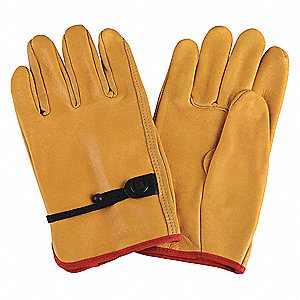 Drivers Gloves,Cowhide,M,Yellow,PR