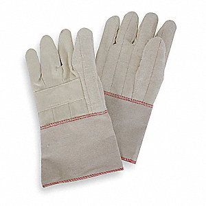 Heat Resist. Gloves,L,Canvas Cotton,PR