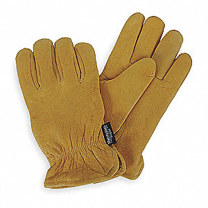 Cold Protection Gloves, Thinsulate Lining, Slip-On Cuff, Golden Yellow, XL, PR 1