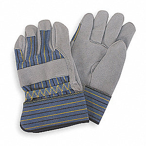 Leather Palm Gloves,Cow Split,Gray,XL,PR