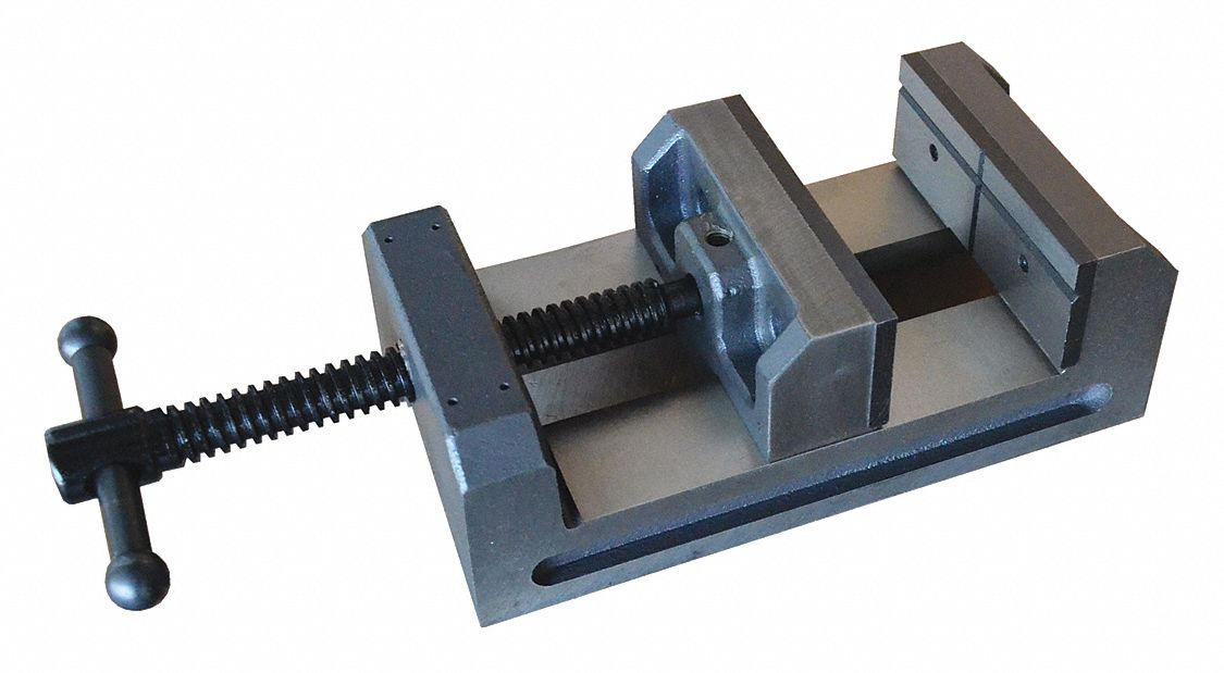 Machine Vise,  Drill Press Vise,  Fixed Base,  6 in Jaw Opening (In.),  6 in Jaw Width (In.)
