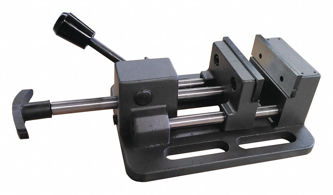 Machine Vise,  Quick Release,  Fixed Base,  3 in Jaw Opening (In.),  3 in Jaw Width (In.)