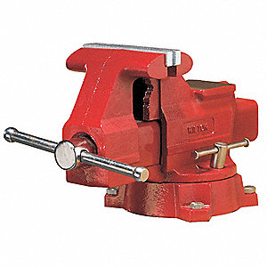 "4-1/2"" Ductile Iron Workshop Vise, 2-5/8"" Throat Depth"