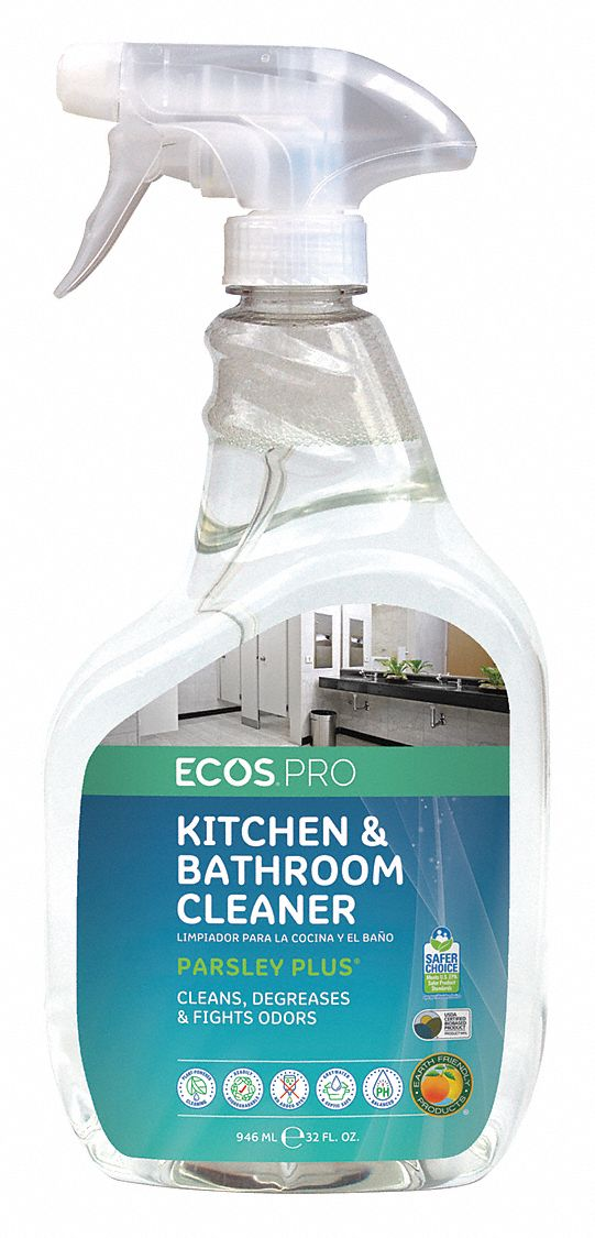 Kitchen and Bathroom Cleaner,  32 oz