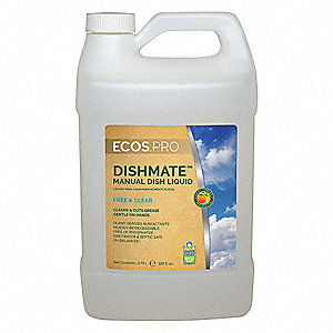 Liquid Dishwashing Detergent, 1 gal. Bottle, 1 EA