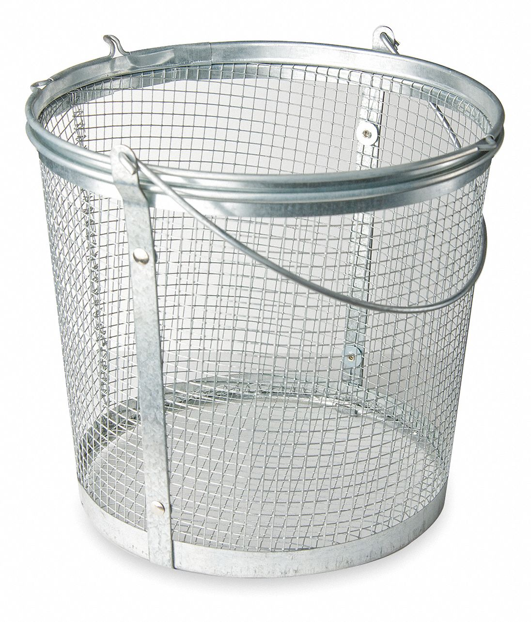 Galvanized Steel Parts Washer Basket, Gray