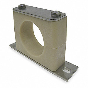 "Bolt Plate Tube Clamp Kit, 1/2"" Tube Size, Stainless Steel"