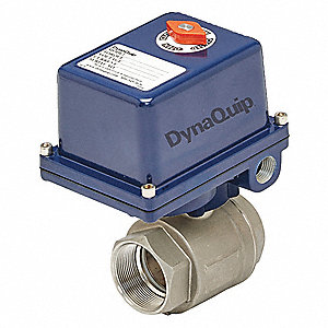 "316 Stainless Steel Electronic Actuated Ball Valve, 3/4"" Pipe Size, 120VAC Voltage"